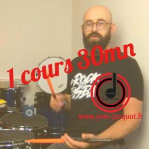Cours de batterie en ligne en visio 30 mn