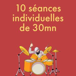 10 cours individuelles de 30mn (Payables en 3 fois sans frais)